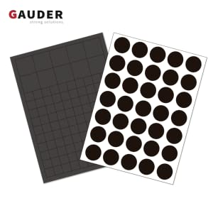 Flexible Sticky Magnets GAUDER Magnetic Squares Self Adhesive Magnetic Stickers