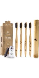 bamboo toothbrushes wooden toothbrushes soft bristles Environmental kids eco Organic wood Natural