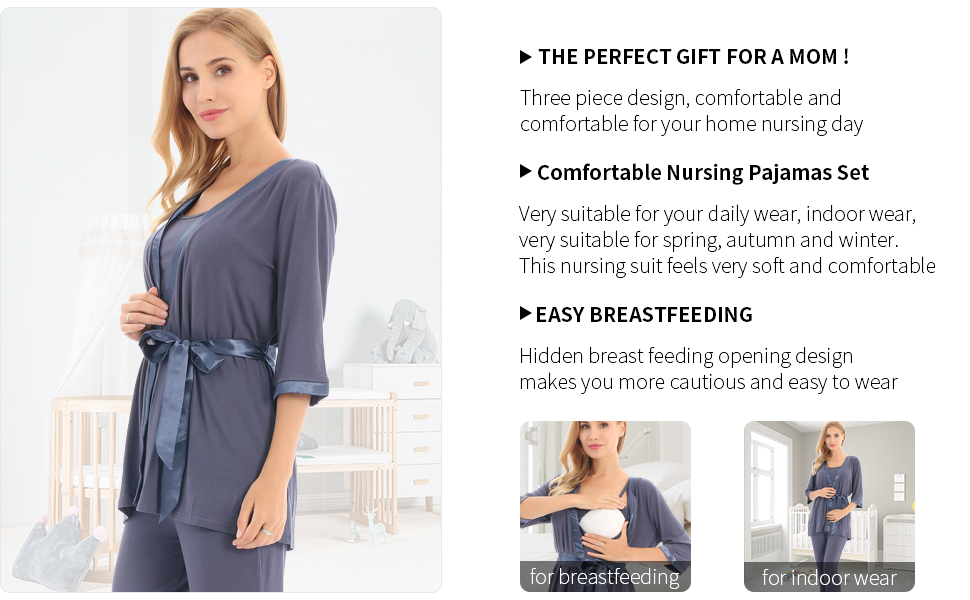 Nursing Pajamas Set