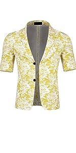 Men's 2 Piece Tropical Beach Floral Print Short Sleeve Aloha Hawaiian Suit