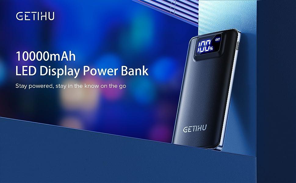 GETIHU 10000mAh power bank