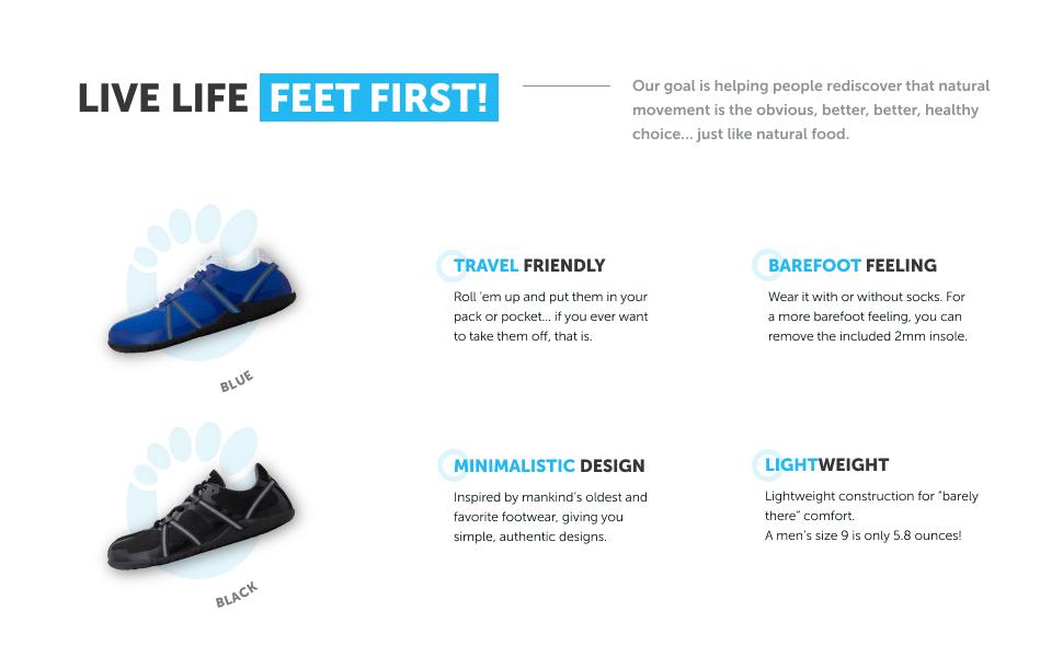 travel friendly lightweight barefoot feeling minimalist design