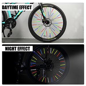 4PCS//SET Bicycle Spokes Reflectors Set Transparent Yellow for Bike UK
