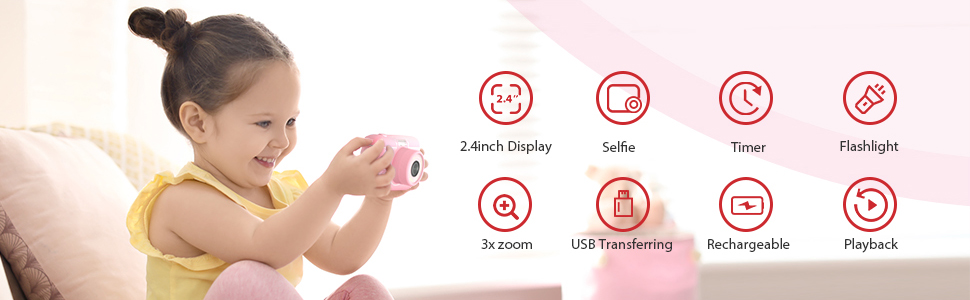 Çocuklar çocuklar için dijital kamera kızlar hediyeler oyuncaklar