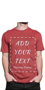 custom add text shirt