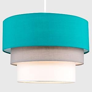 Turquoise lampenkap