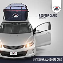 RoofPax Car Roof Bag & Rooftop Cargo Carrier. 19 Cubic Feet. 100% Waterproof Excellent Military