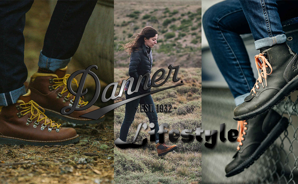 danner lifestyle fashion boot log woman walking on the grass