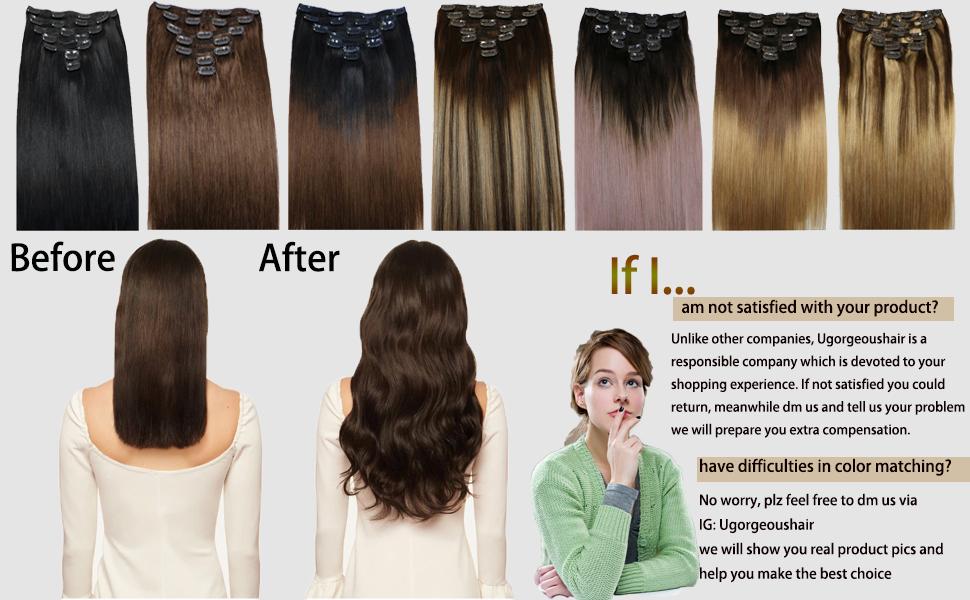 clip in hair extensions human hair