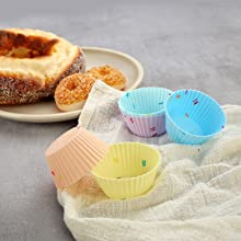 silicone baking cups muffin