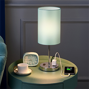 desk lamp with charging outlets