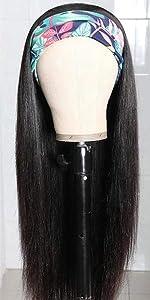 10A headband human hair straight wigs