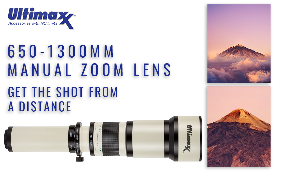 Ultimaxx 650-1300mm Telephoto Zoom Lens for Nikon D7500