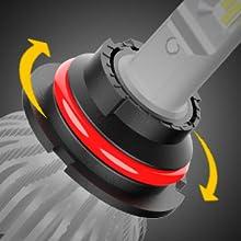 360 rotatable 9007 headlights
