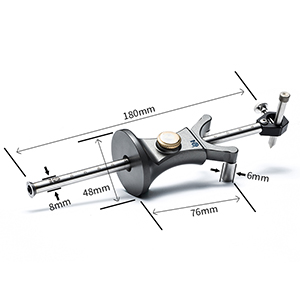 ZOOMY Line Tool Scribe Aluminio Carpinter/ía Mortaja Marcador Carpintero Talla