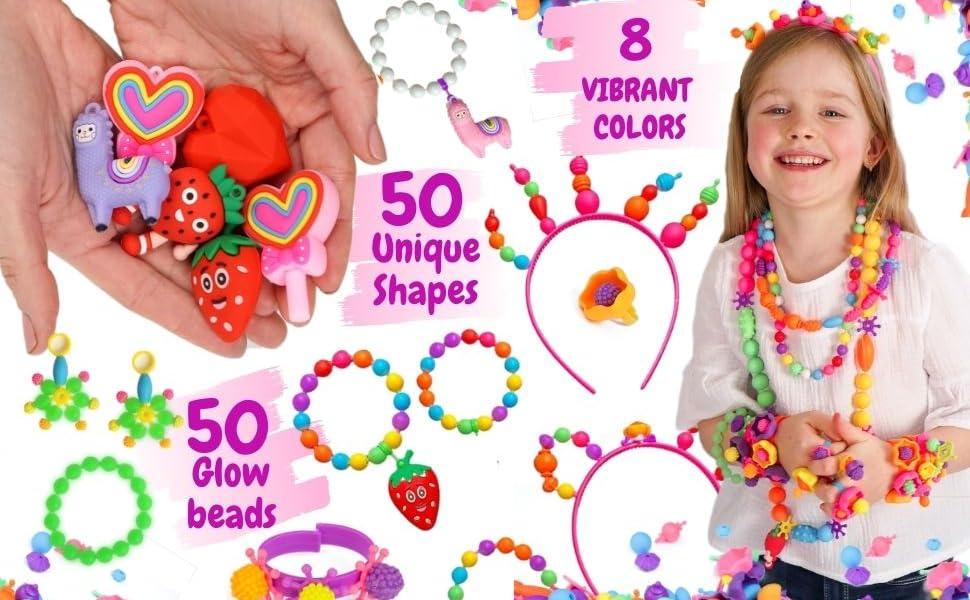Pop Beads, Jewelry Making Kit For Girls, Girls Birthday Gift, Girls age 5, Girls age 6, Girls age 7