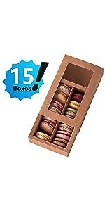 Kraft Macaron Box 12