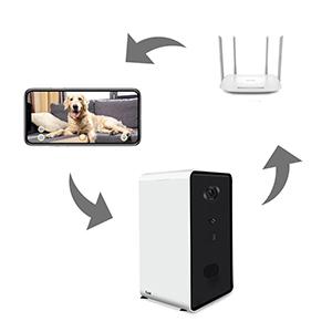 treat dispenser dog camera