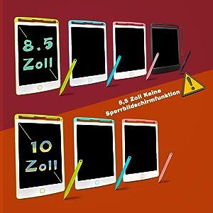 """8,5 /""""LCD-Zeichentablett Schreibblock Grafik Arbeit Message Board Kid Geschenk"""