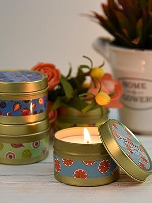 LA BELLEF/ÉE Velas Perfumadas de Soja Naturales Arom/ánticas con Aceite Essencial Aromaterapia Regalos para Cumplea/ños Festivales Amigos Familiares