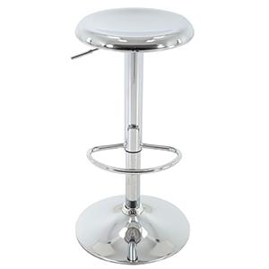 silver chrome adjustable round seat stool