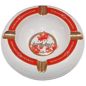 Hamp;H Cigar Ashtray Celebration Collection Happy Birthday