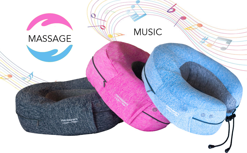 travel music neck pillow