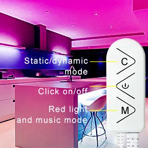 3 3-Button Control led strip lights