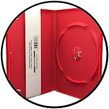 red dvd case