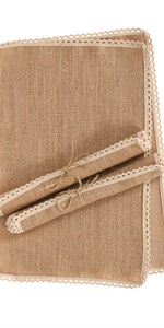 Burlap Placemats Set