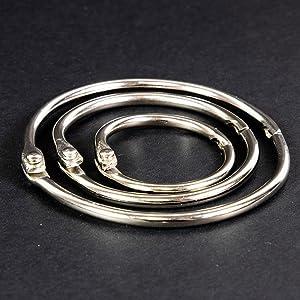 metal book rings