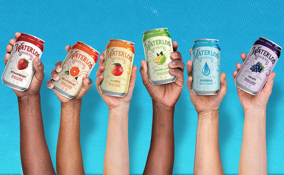 Waterloo Sparkling water delicious mixer healthy