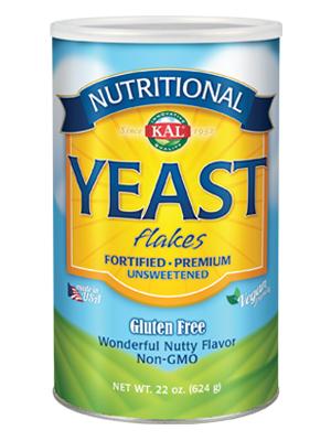 KAL Nutritional Yeast Flakes Vitamin B12, Vegan, Non-GMO, Gluten Free Unsweetened 22 oz