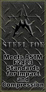 Steel toe, safety toe