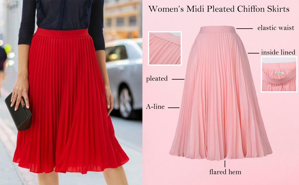 flared swing a line skirt