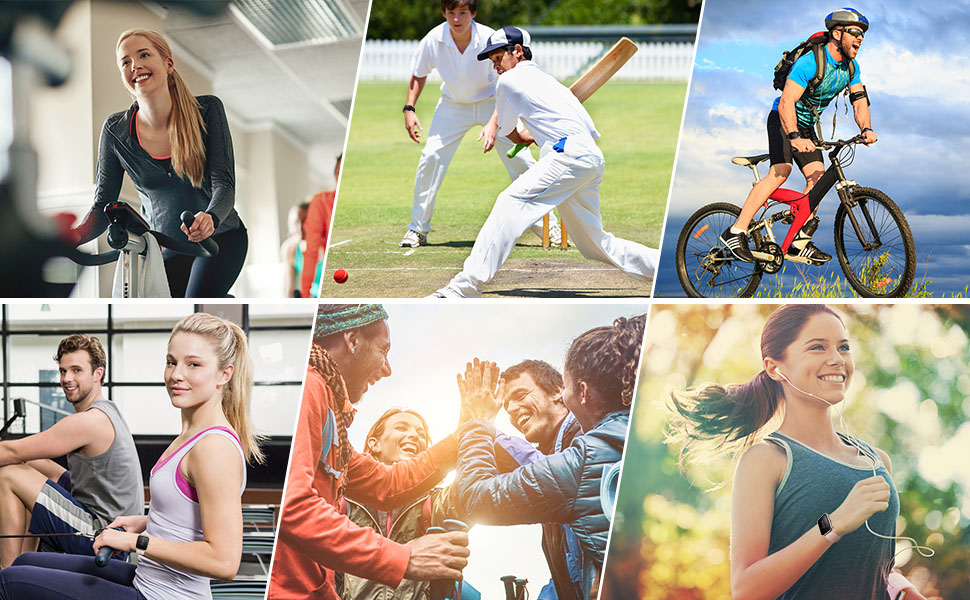 fitness tracker with 13 sports mode for your different exercise, be your sports parter, easy to use