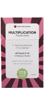 Think Tank Scholar Multiplication Flash Cards