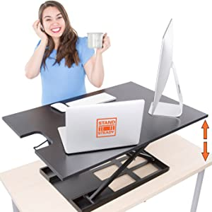 Stand Steady x-elite pro xl standing desk converter, Sit stand desk converter for laptop, one level