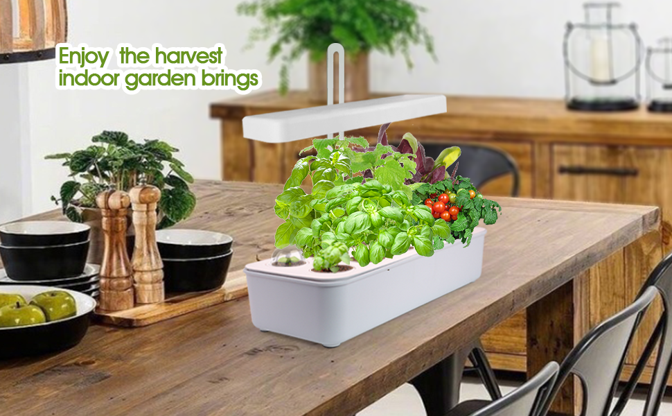 Enjoy The Harvest Indoor Garden Brings, Height Adjustable, Smart Pod Included