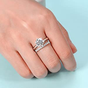 diamonds band wedding silver gold
