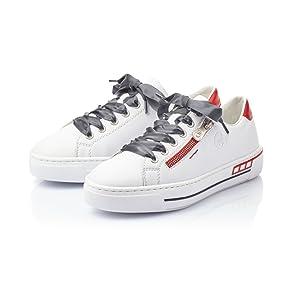 Rieker Damen Sneaker weiß L88N2 80