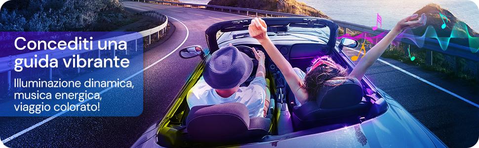 Govee Striscia LED Auto con APP musica