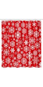 Christmas snowflakes shower curtain