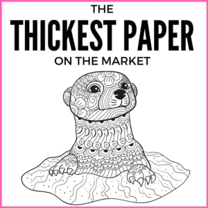 otter image with thick paper text