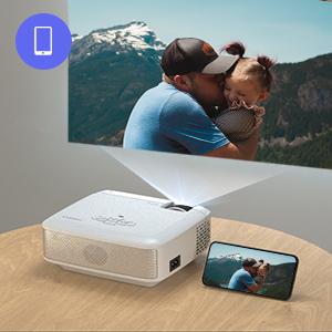 mini proyector cine en casa
