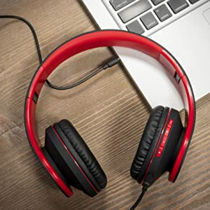 wireless and wired headphones over ear headset with bluetooth wired headphones for cell phones mac