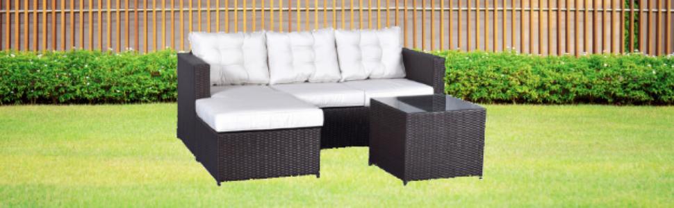 MOMMA HOME Conjunto Muebles de Jardín Ratán | Muebles para terraza ...