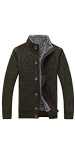 Stand Collar Fleece Sweater