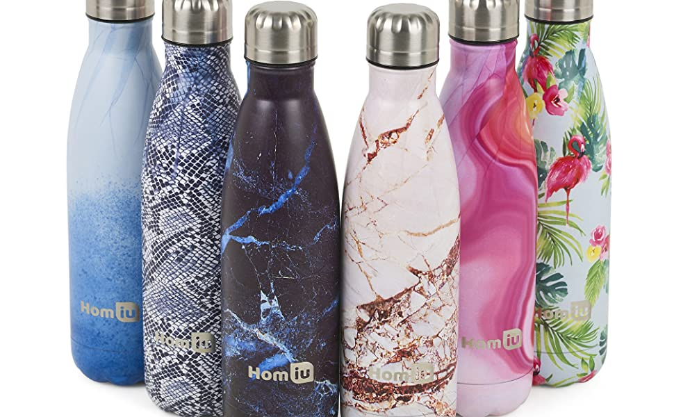 homiu water bottle stainless steel hot or cold