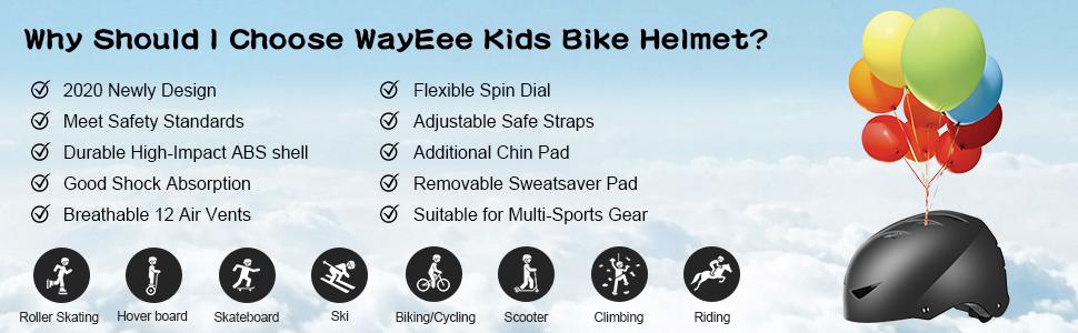 kids bike helmet skateboard skating BMX scooter boy gils black pink adjustable youth child teenages